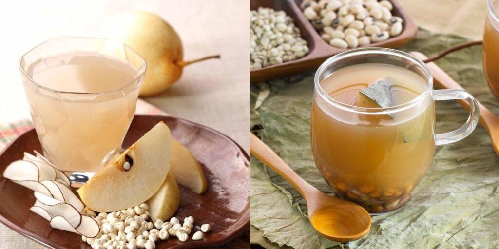 海底椰雪梨茶                                                         冬瓜薏米茶