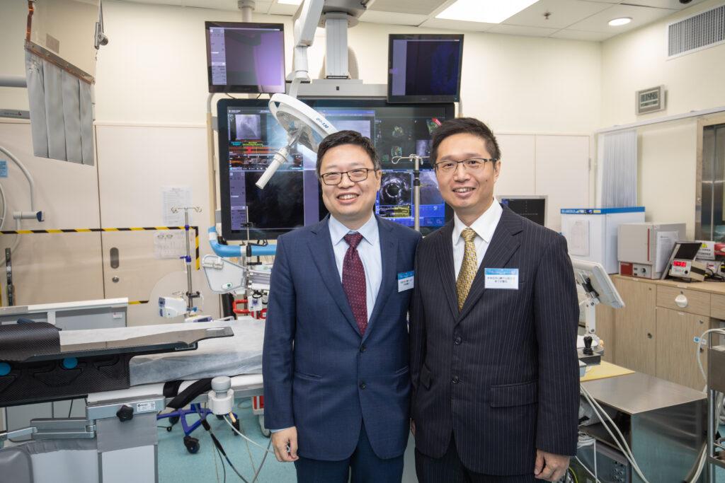 (左起)香港亞洲心臟中心主任、心臟科專科林逸賢醫生及香港亞洲心臟中心心血管科主任、心臟科專科曾子欣醫生