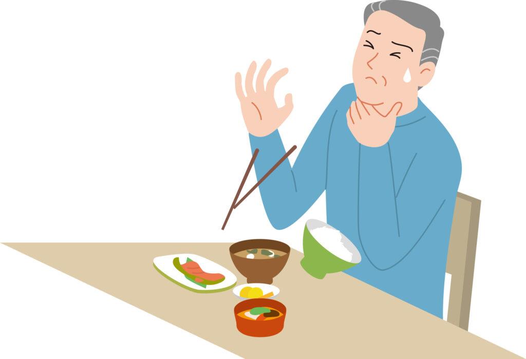 老人家吞嚥能力衰退,加上肺功能差,萬一鯁喉亦不夠力氣將食物「咳出」。