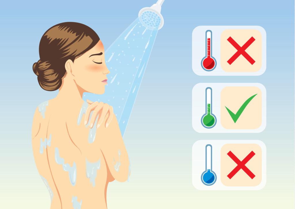 水溫過熱或沖涼時間太長,會沖走皮膚的油脂,水分蒸發更快,有機會沖完涼周身痕。