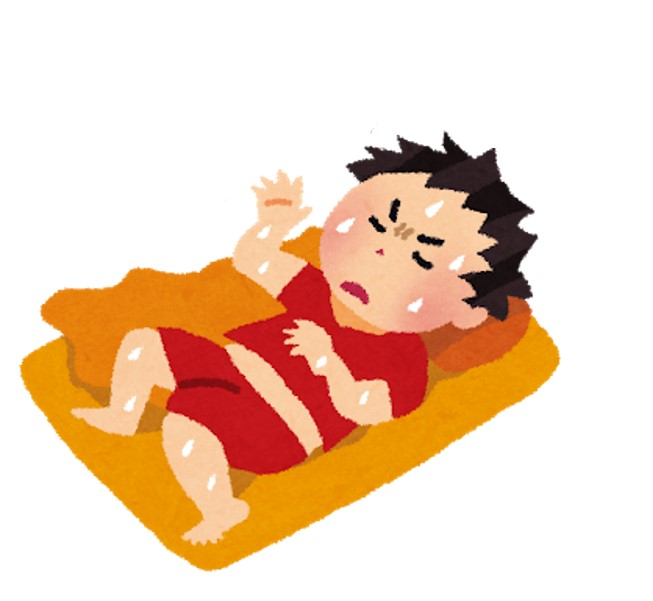 小朋友入睡後出現盜汗,一般因服用藥性偏熱藥材而出現內熱,或是脾胃積熱,陰虛內熱。